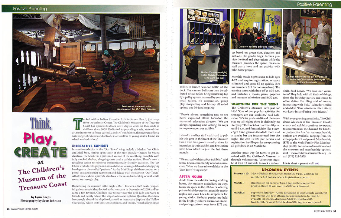 Children's Museum tear sheet