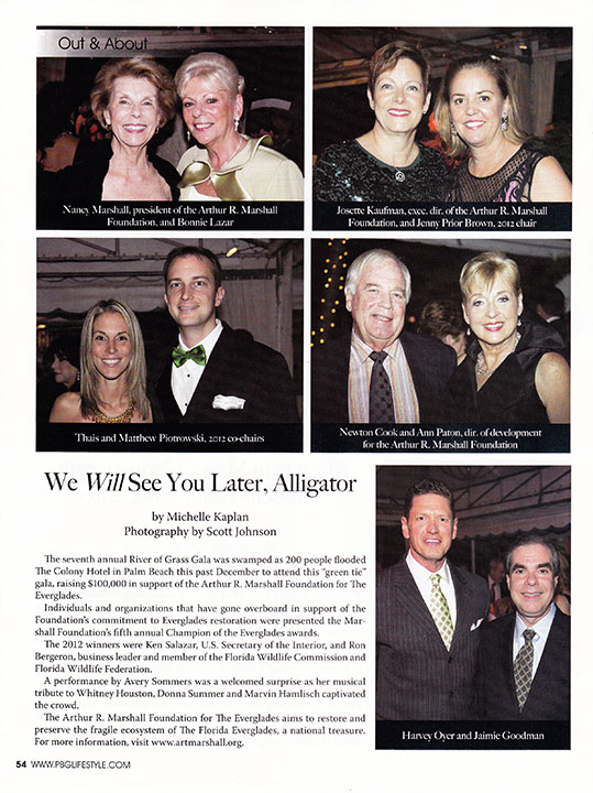 River of Grass Gala tear sheet